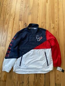 Men's Houston Texans G-III Sports by Carl Banks Half-Zip Pullover Jacket NFL