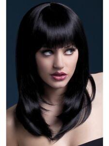 Black Fever Tanja Wig, 19inch/48cm Adult Womens Smiffys Fancy Dress Costume