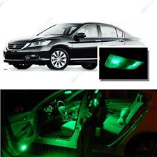 For Honda Accord 2013-2016 Green LED Interior Kit + Green License Light LED