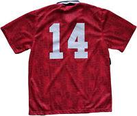 maglia vintage England match worn Umbro Friendly jersey player #14 XL