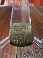 Vintage H.K. PORTER COMPANY Railroad Train Manufacturer Employee Badge Pitt PA