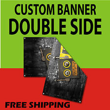 3 x 6 DOUBLE SIDED PRINT 15 oz FULL COLOR CUSTOM BANNER***FREE SHIPPING****