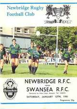 NEWBRIDGE v SWANSEA 12 Jan 1991 RUGBY PROGRAMME