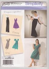 Simplicity Pattern 2549 Miss Designer Inspiration Evening & Day Dresses Sz 6-14