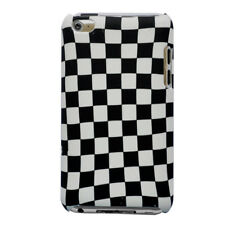 Black Grid Hard Cover Case For Apple iPod Touch 4 4G