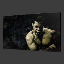 MUHAMMAD ALI GRUNGE BOXING CANVAS WALL ART PICTURES PRINTS 30 X 20 Inch WALL ART