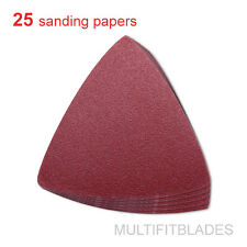 25 Pack: 120 Grit MultiTool Triangular Sanding Sheets - Fein, Bosch, Craftsman +