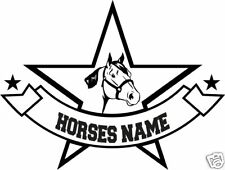 """Quarter Horse Head Personalized Trailer Truck Decal 12"""""""