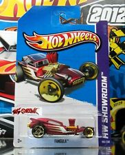 Hot Wheels 2013 #186 Fangula™ MATTE RED,FRONT-GOLD SK5,REAR-GOLD PR5,METAL BASE!
