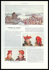 Document Anc. CAMPING EN LAPONIE  LAPONS  COSTUMES TRADITIONNELS  1938