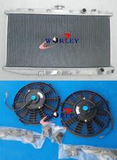 FOR 1988-1991 Honda Civic & CRX 1988-1991 1.5 1.6 L4 MT ALUMINUM RADIATOR & FANS