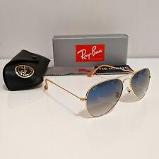 Ray-Ban Aviator 58mm - Gold / Blue Gradient Sunglasses - RB3025 001/3F 58-14