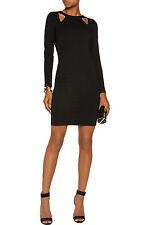 HALSTON HERITAGE Black Cutout Ponte Dress Size XS NWT $375