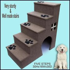 Doggy Stairs. Pet Furniture, Dogs Furniture. 30 Inches Tall Wooden Dog Steps .