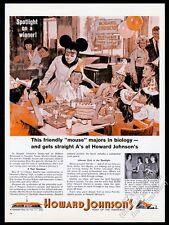 1964 Howard Johnson's restaurant waitress in mouse costume vintage print ad
