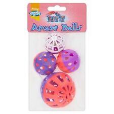 Good Girl AMAZE BALLS Cat Kitten Plastic Rattle Noise Play Ball Toys 4pcs