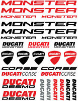 Ducati Monster 1200 S Motorcycle Stickers Set Decals Red /12