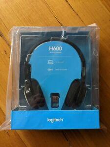 Logitech H600 Wireless USB Headset - Black 1pcs