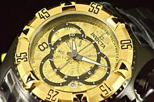 24267 Invicta 52MM Excursion TOURING Swiss Chrono GoldTone Dial Black Band Watch