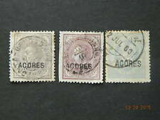 AZORES SC# 38, 39 39A USED
