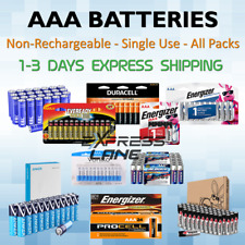 Batteries AAA Non-Rechargeable Alkaline 4/8/10/16/24/48/100 packs lot FAST SHIP