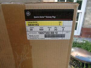 GENERAL ELECTRIC GE SB361RG 30A 600V 3 P 3 W ground NIB Bus plug busplug 4 avail