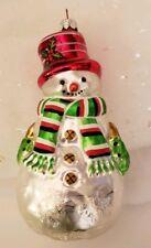 Potpourri Designs European Art Glass Ornament Snowman Made in Poland