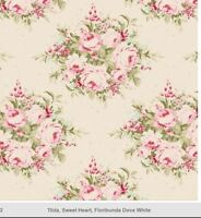 Tilda FLORIBUNDA DOVE WHITE  Quilt fabric patchwork Sewing Cotton 0.5m supplies