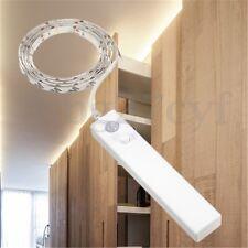 1m 30LED Strip Light Wireless PIR Motion Sensor Wardrobe Cabinet Flexible String