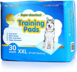"""HONEY CARE All-Absorb, XXL 30""""x36"""", 30 Count, Dog and Puppy Training Pads, Ultra"""