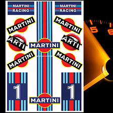 12 x AUFKLEBER MARTINI STICKERS AUTO MOTO TUNING MOTORSPORT RALLY SPONSOR D 33