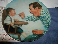 """1984 A Fathers Love """"Open Wide"""" 1 Collectible Plate Dad & Baby By Betsey Bradley"""