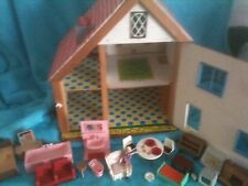 Vintage Maison De Poupées 50 s 60 s, avec certains plastique meubles