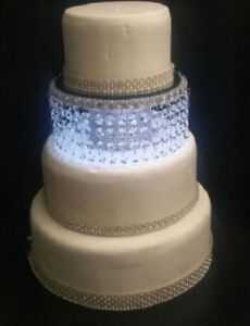 Crystal wedding cake separator/stand -round / square- gold or silver many sizes