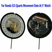 Ronda 515 Quartz Movement Date At 3' Watch Repair Parts Accessories