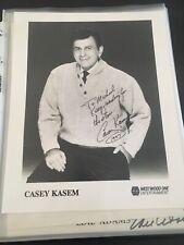 "Casey Kasem!  Autographed 8x10"" Photo. 90's Headshot. Rare! Ships Immediately!"