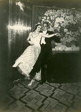 Ocean Liner Ile de France Dance Ramon Novarro & Rosita Ritchie Old Photo 1931