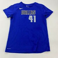 Nike NBA Dallas Mavericks Nowitzki 41 T Shirt Mens Medium Short Sleeve Blue