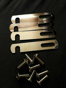 Divan Bed Base Connecting Link Bars 98mm Silver Nickle Plated Linking Bar & Bolt
