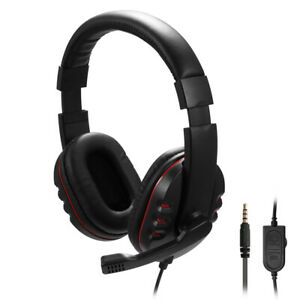 Gaming Headset 3.5mm Wired Headphone Stereo with Microphone For PS4 PC Xbox One