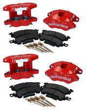 WILWOOD D52 BRAKE CALIPER & PAD SET W/PINS,FRONT & REAR,1.04,RED,BIG GM CALIPERS