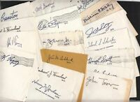 1970s Congress Free Franks 17 entire covers with signatures