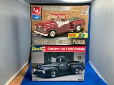 Revell Custom 56 Ford Pickup & Amt Ertl 55 Chevy Stepside Pickup Junkyard