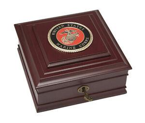 Allied Frame US Marines Medallion Executive Desktop Box *100% MADE IN USA* USMC
