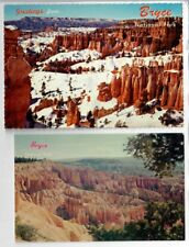 2 diff Bryce Canyon National Park Utah Vintage Postcard 1960's Queen's Gardens
