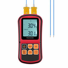 Digital Thermometer Dual Channel Input Thermocouple K/J/T/E/R/S/N LCD Backlight