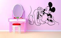 Wall Room Decor Art Vinyl Sticker Mural Decal Dog Mouse Kids Bedroom AS1952