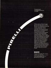 "1975 Pirelli Tires Stop on a Dime Graphic art ""Best Braking in 1974"" print ad"
