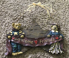 """2000 Boyd's Bears Life's A Picnic Welcome Plaque, 390609, """"Welcome Friends�"""