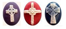 Ceramic Mold - Celtic Cross - Polymer Clay, Ceramic or Porcelain Slip NEW DESIGN